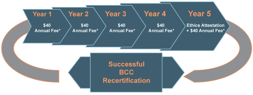 Successful BCC Recertification Infographic