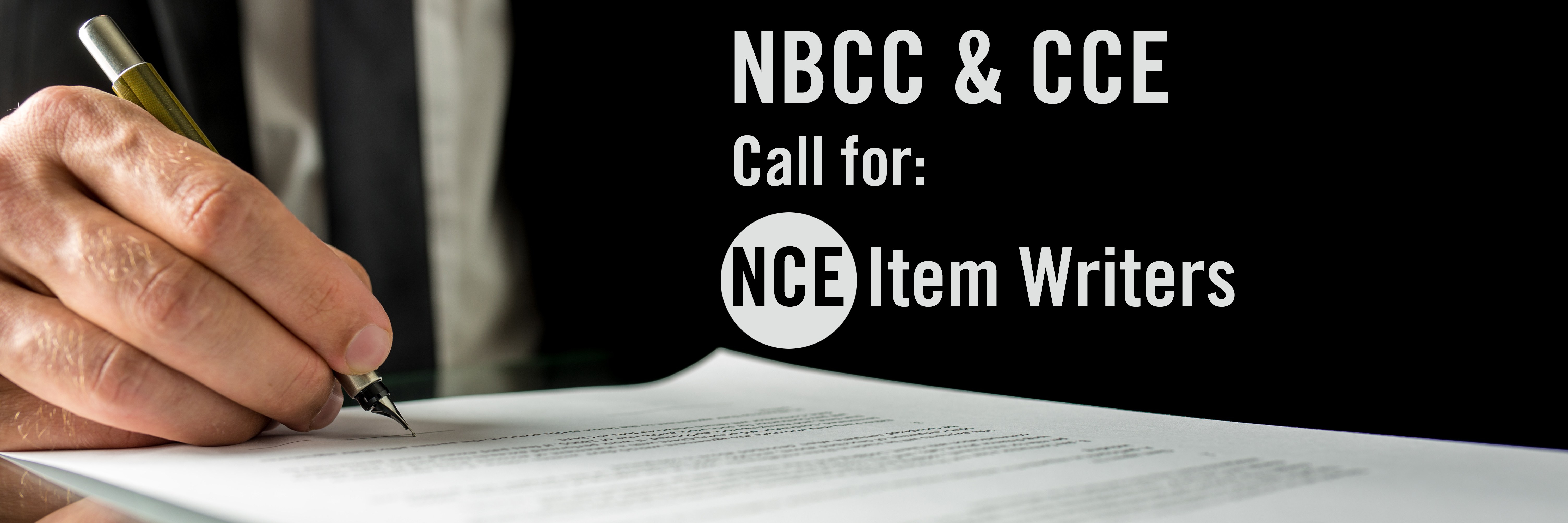 Call for: NCE Item Writers
