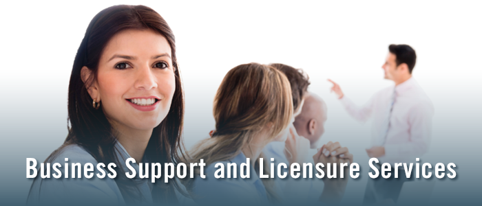 Business Support and Licensure Services Mobile